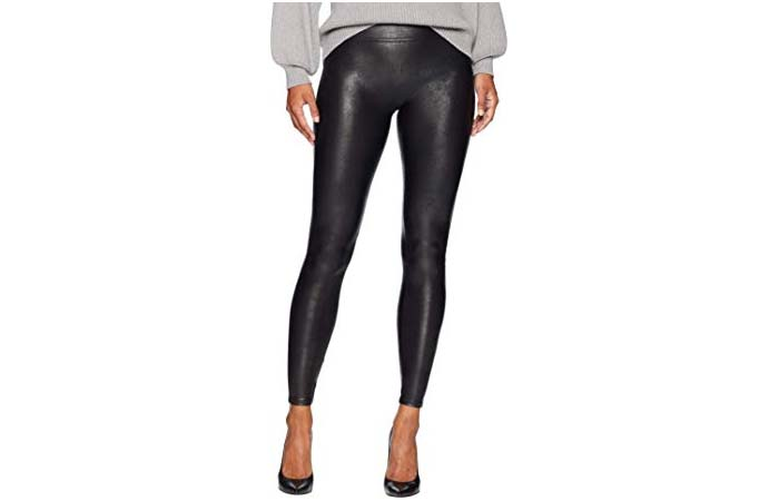 SPANX Womens Faux Leather Leggings