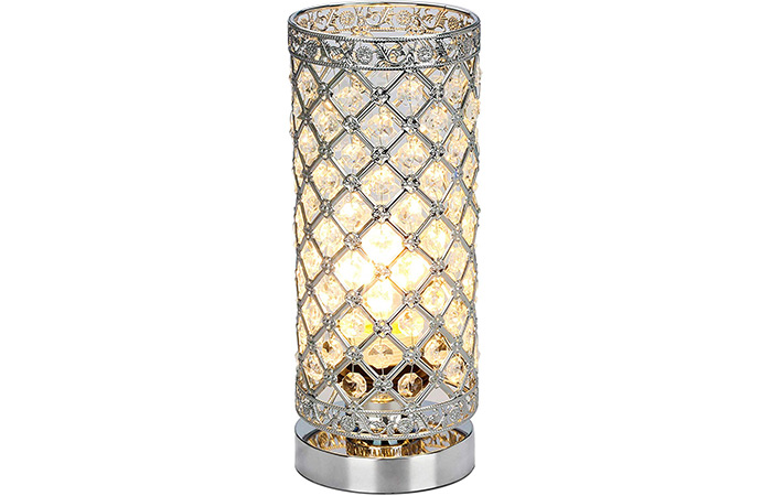 Seaside Village Crystal Table Lamp