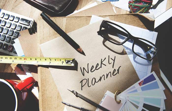 Set Weekly Goals