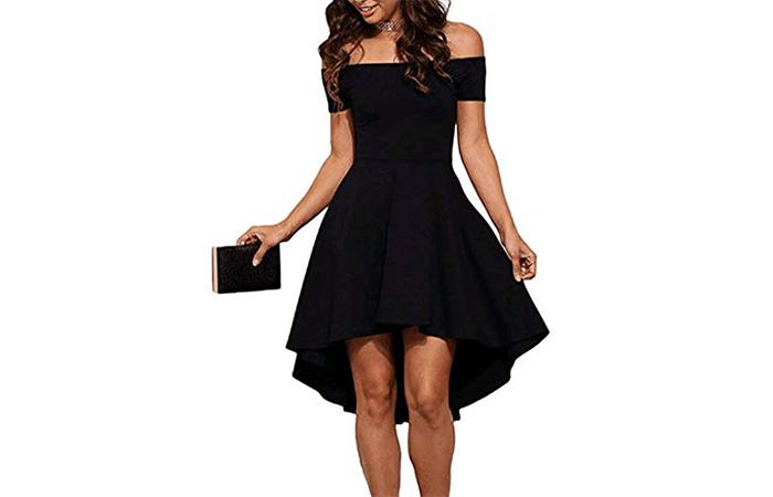 Sidefeel Off-Shoulder Cocktail Dress