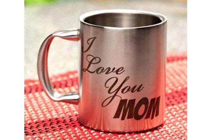 Stainless Love You Mug