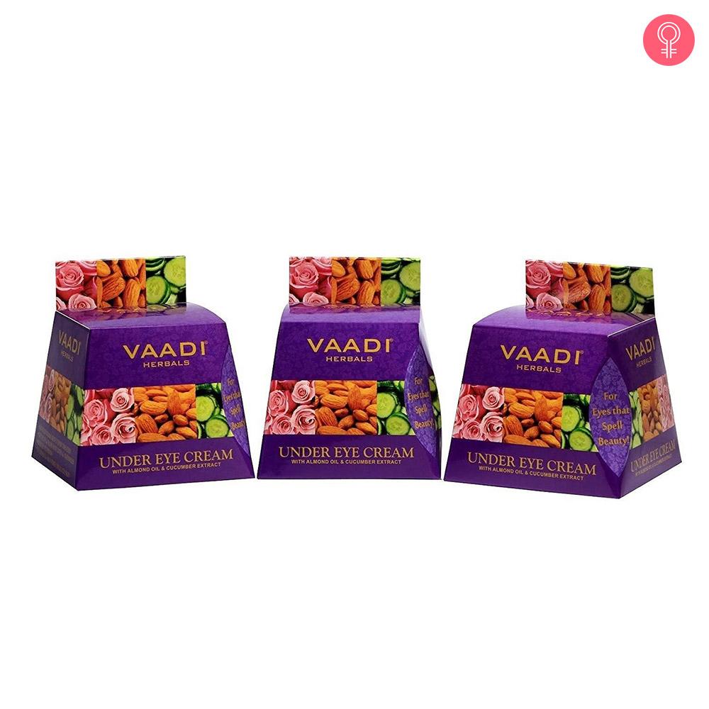Vaadi Herbals Under Eye Cream – Almond Oil & Cucumber Extract