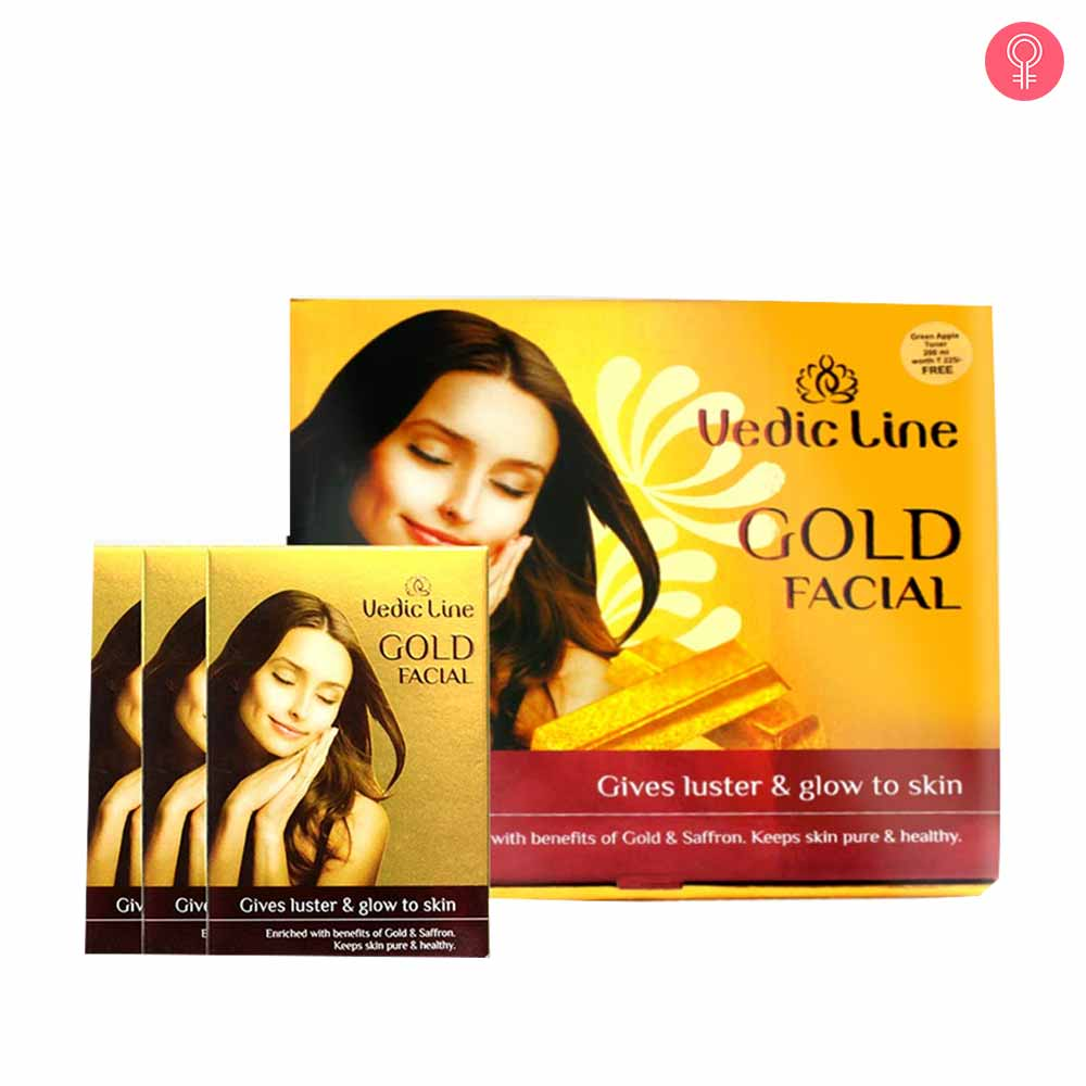 Vedic Line Gold Ojas Facial Gives Luster & Glow To Skin