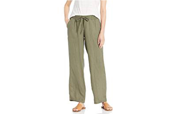 Women's Drawstring Linen Pant