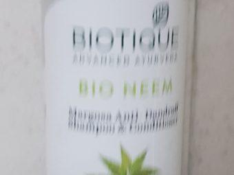 Biotique Bio Neem Margosa Anti-Dandruff Shampoo and Conditioner -Ayurvedic shampoo-By ritikajilka1991