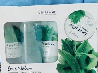 Oriflame Love Nature Facial Kit Tea Tree -Best for sensitive skin-By ritikajilka1991