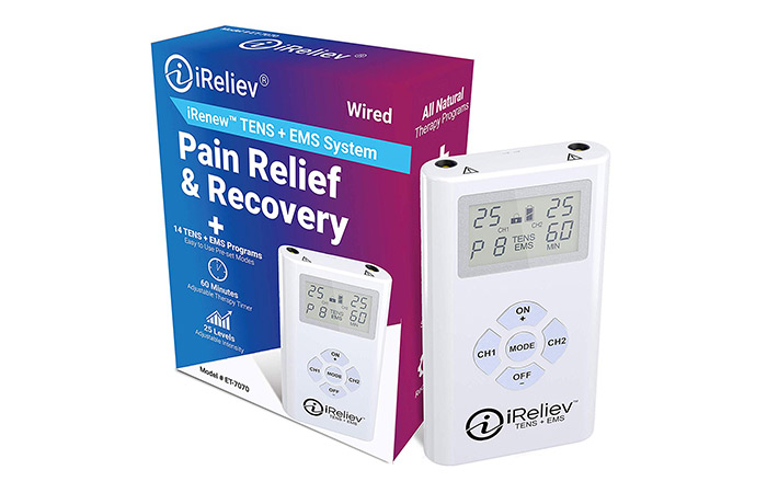 iReliev TENS + EMS Combination Unit Muscle Stimulator