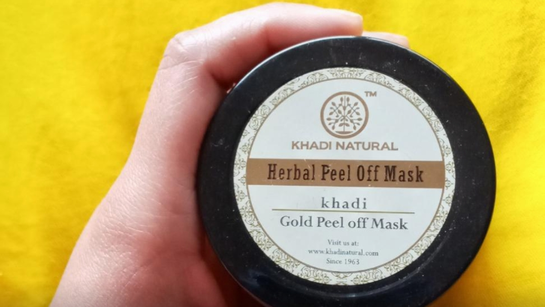 Khadi Natural Gold Peel Off Mask-Descent product-By sanna-1