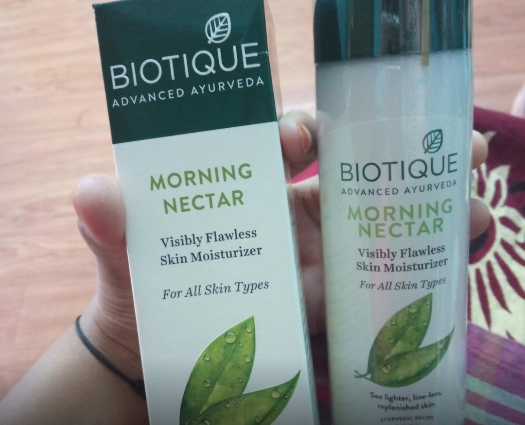 Biotique Morning Nectar Visibly Flawless Skin Moisturizer-Really a great product-By sanna-1