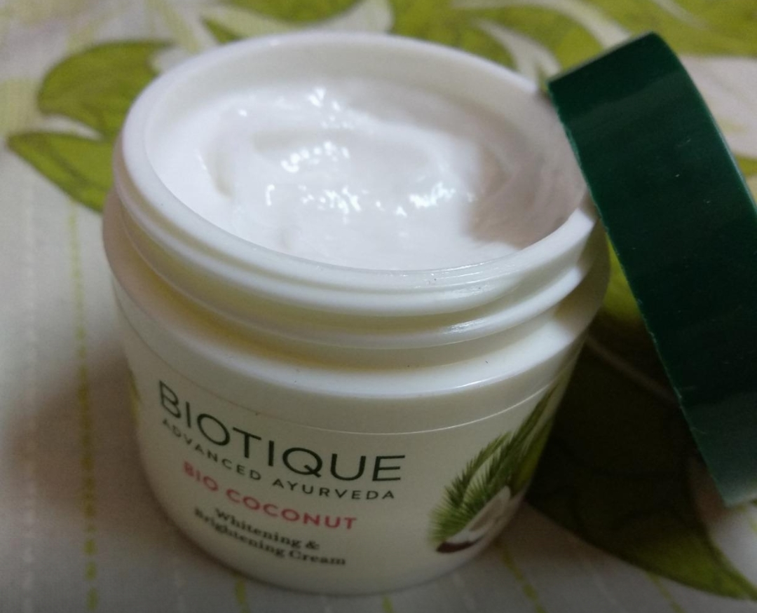 Biotique Bio Coconut Whitening & Brightening Cream-Best one-By sanna-1