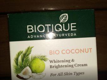 Biotique Bio Coconut Whitening & Brightening Cream pic 2-Best one-By sanna