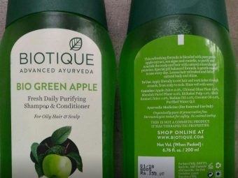 Biotique Bio Green Apple Fresh Daily Purifying Shampoo & Conditioner pic 1-Good for oily scalp-By sanna