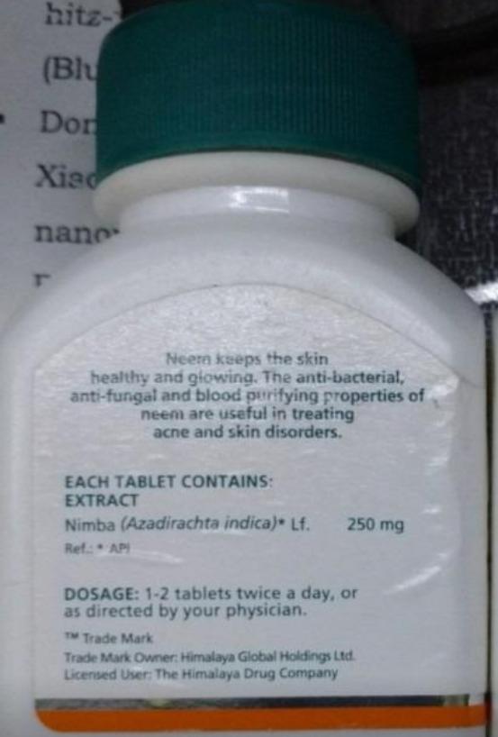 Himalaya Neem Tablets-Best for acne-By sanna-1
