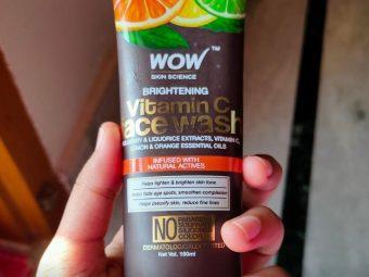 WOW Skin Science Brightening Vitamin C Face Wash pic 1-Good facewash-By sanna
