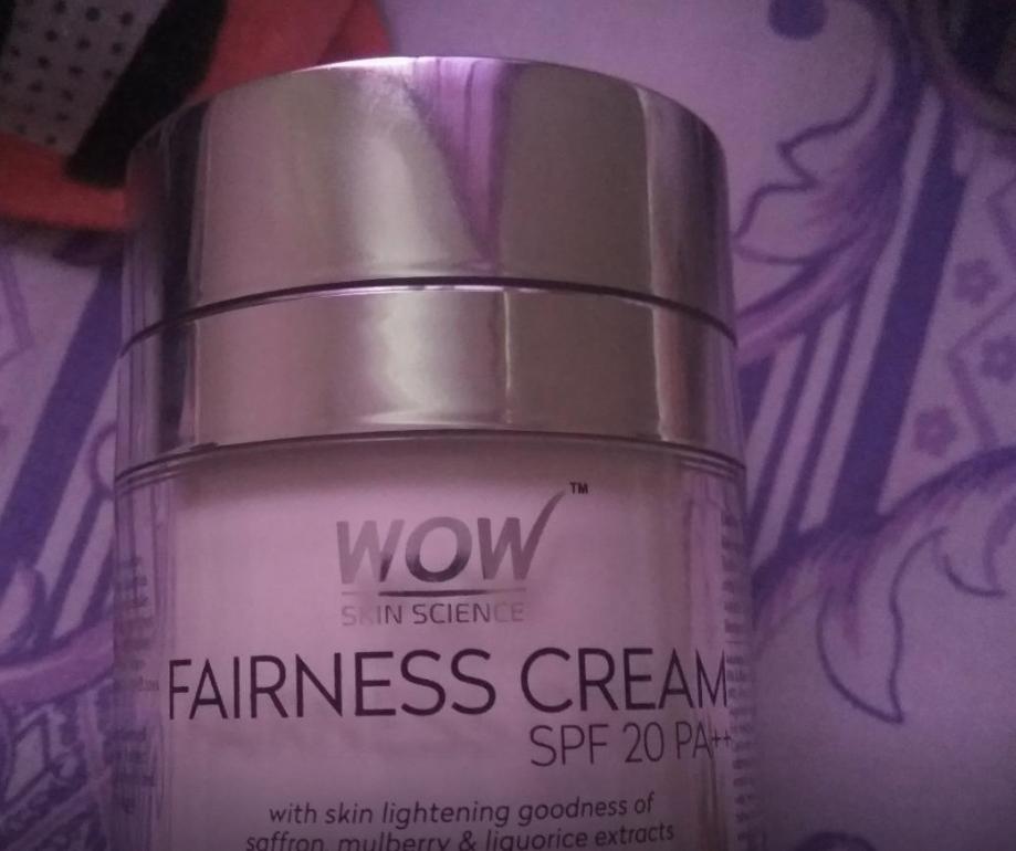 WOW Skin Science Fairness Cream SPF 20 pa++-Good cream-By sanna-2