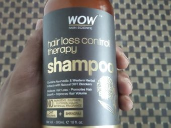 Wow Skin Science Hair Loss Control Therapy Shampoo pic 2-Didnt stop hairfall-By sanna