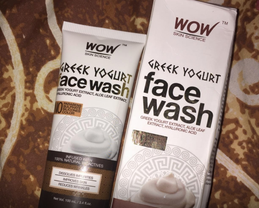 WOW Skin Science Greek Yogurt Gel Face Wash-Best for dry skin-By sanna-1