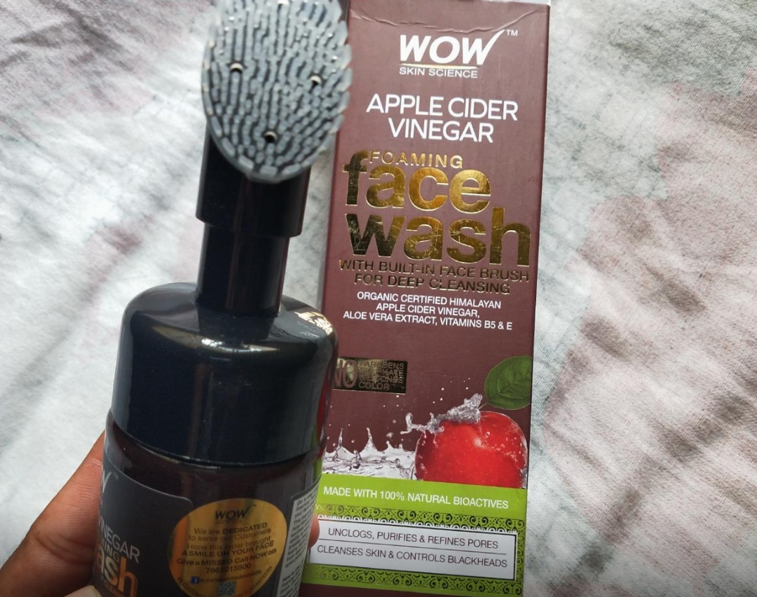 WOW Skin Science Apple Cider Vinegar Foaming Face Wash-Best for oily skin-By sanna-2