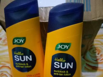 Joy Sunscreen UV Protect and Whitening Lotion -Good product-By sanna