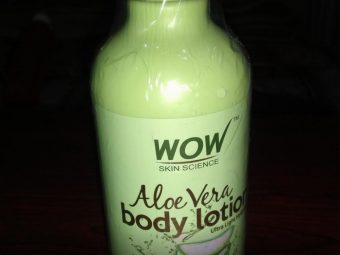 WOW Aloe Vera Body Lotion Ultra Light Hydration pic 2-Good for dry skin-By sanna