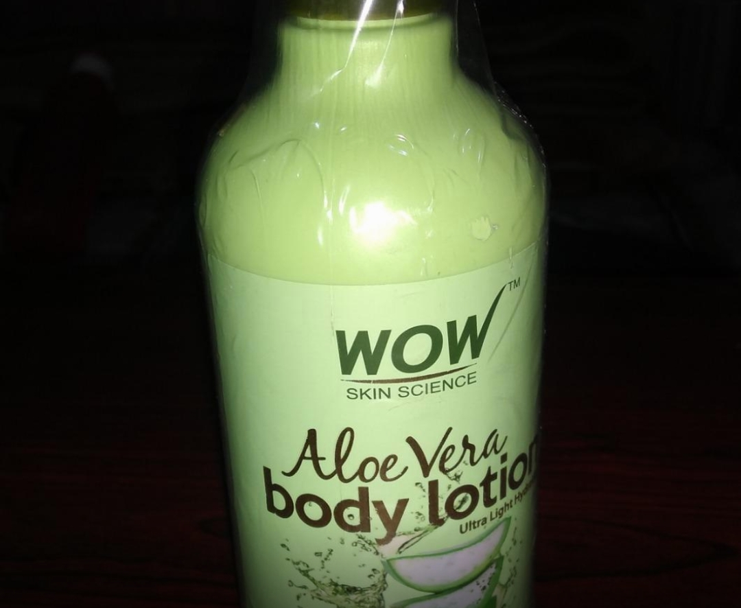 WOW Aloe Vera Body Lotion Ultra Light Hydration-Good for dry skin-By sanna-2