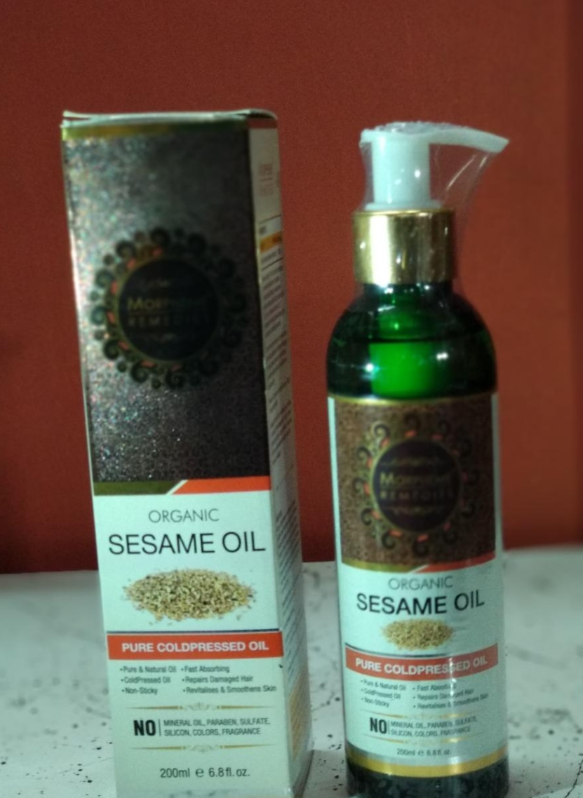 Morpheme Remedies Organic Sesame Pure Cold Pressed Oil-Best for hair growth-By sanna-2