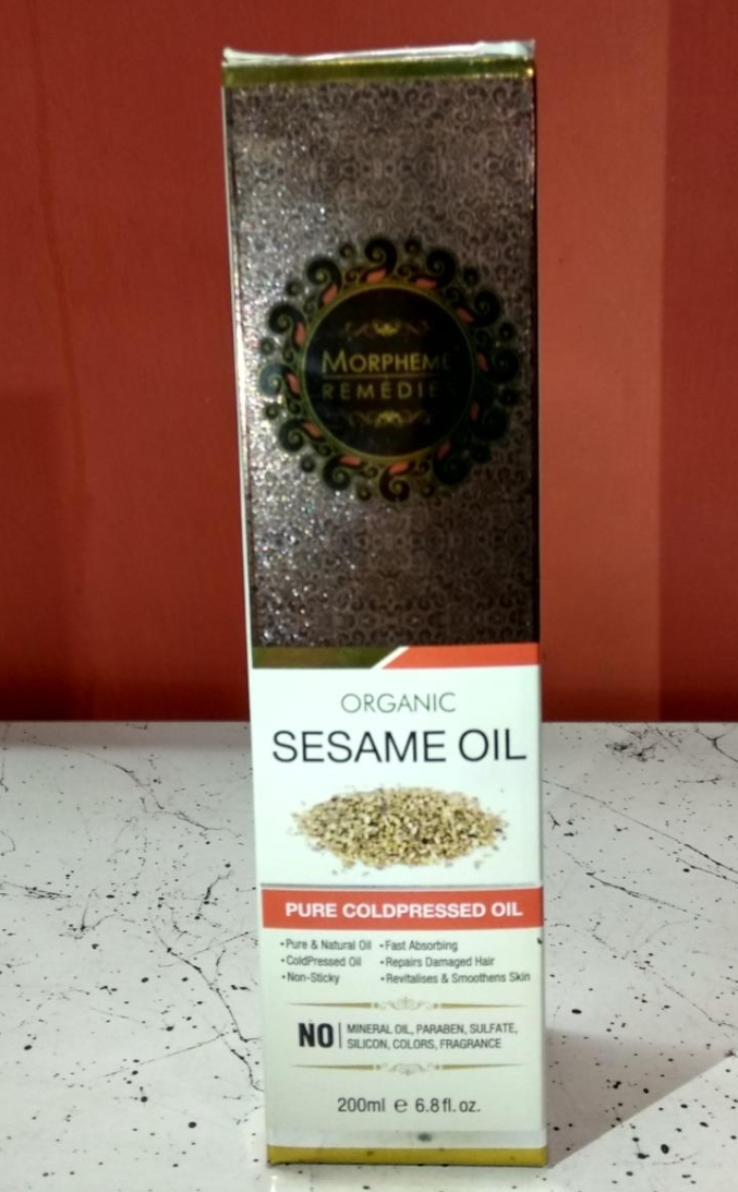 Morpheme Remedies Organic Sesame Pure Cold Pressed Oil-Best for hair growth-By sanna-1