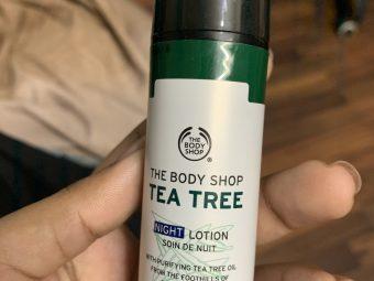The Body Shop Tea Tree Night Lotion -Amazee-By kaavya_arul