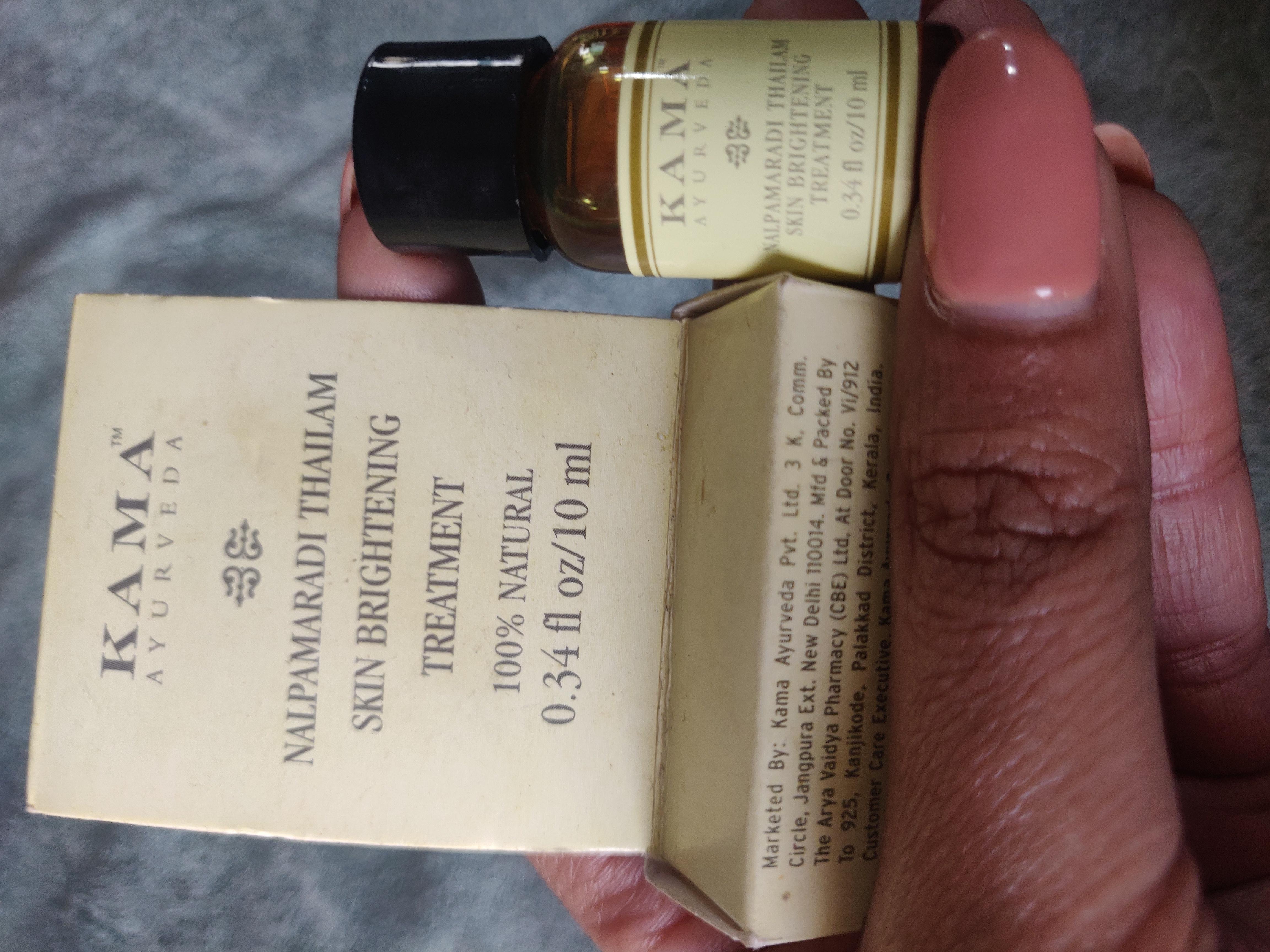 Kama Ayurveda Nalpamaradi Thailam Skin Brightening Treatment-My ayurveda potion-By apekshap
