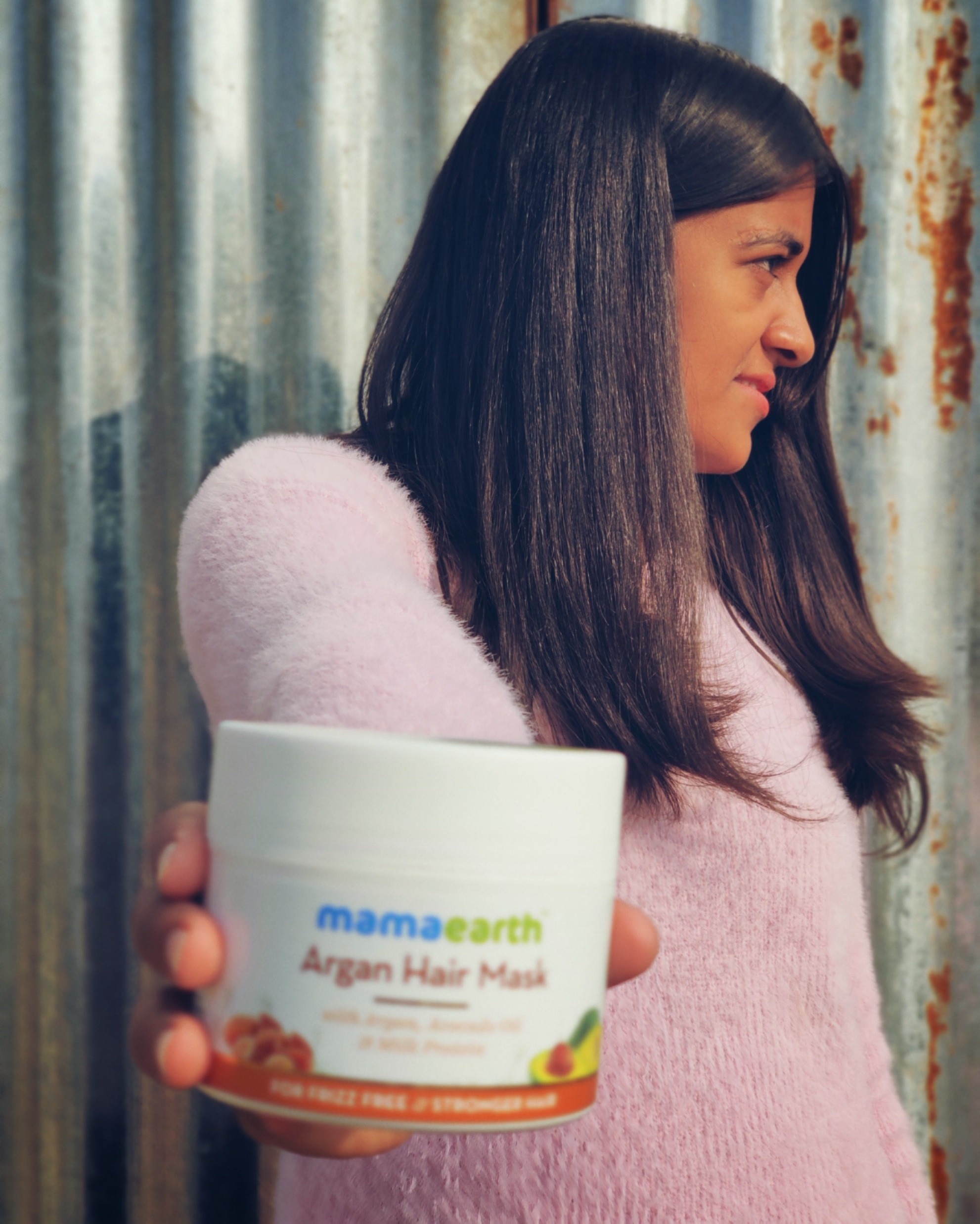 Mamaearth Argan Hair Mask-Best mask for all hair types .-By lekhnee_choubisa