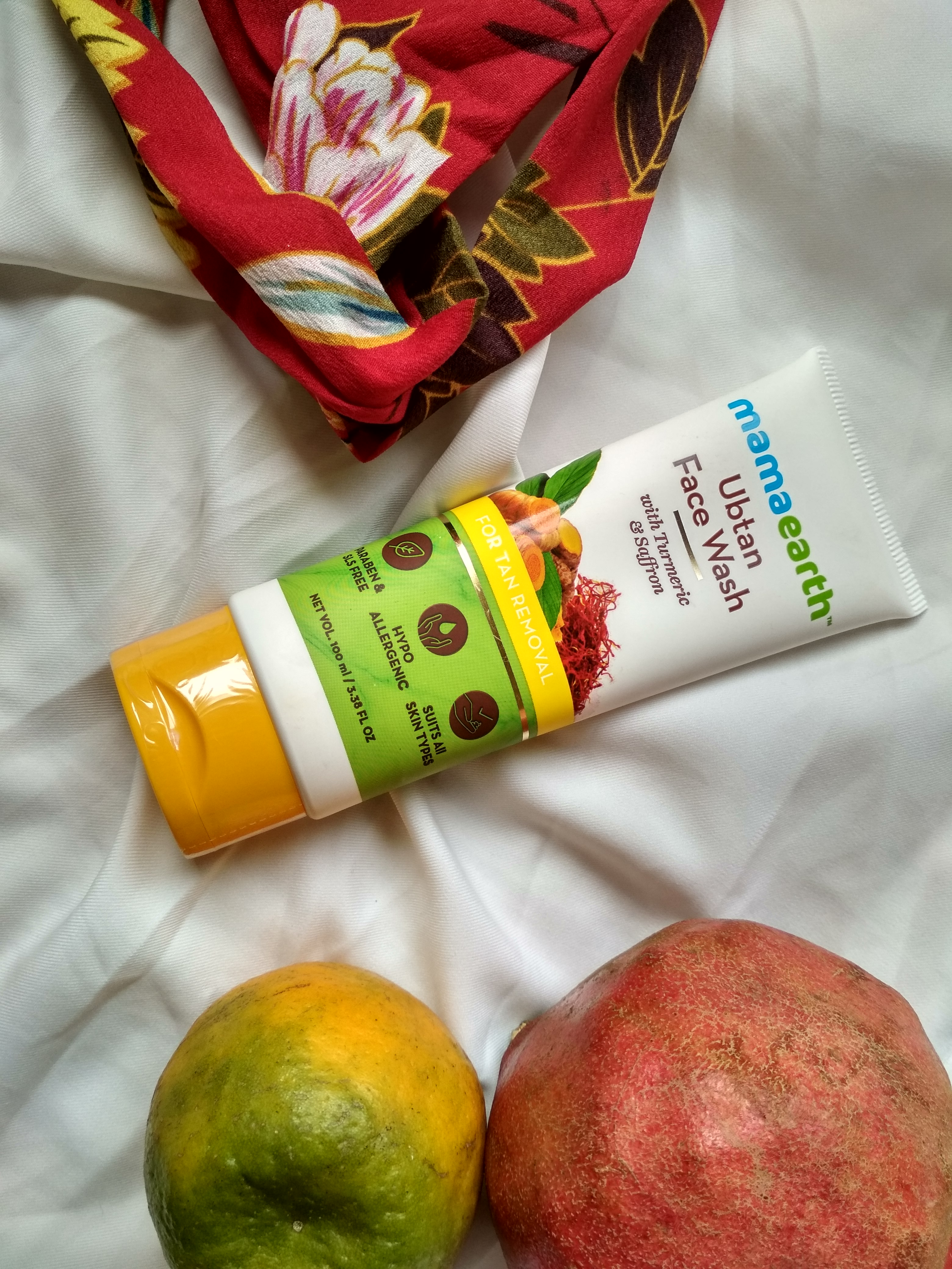 MamaEarth Ubtan Face Wash-One stop destination for tan removal.-By geetanjali_bharali-2