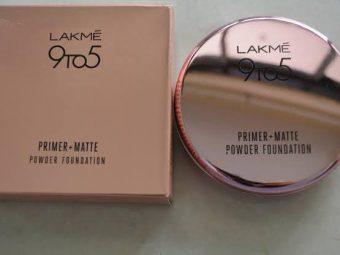 Lakme 9 To 5 Primer + Matte Powder Foundation Compact -Lakme-By bushraa