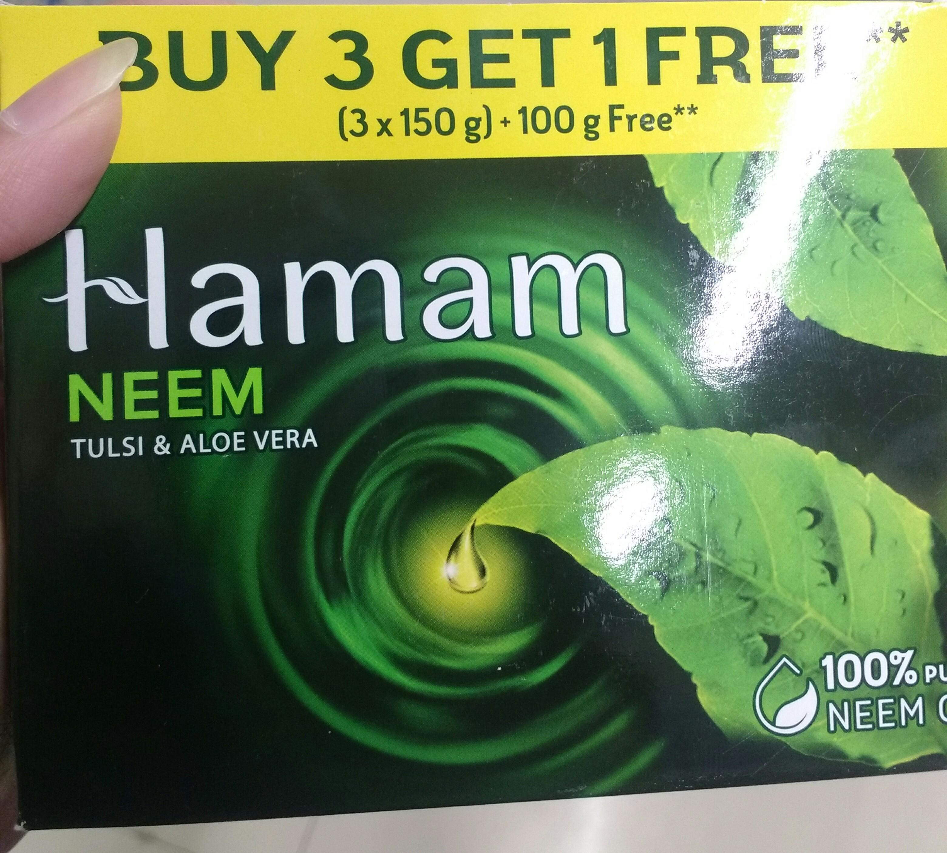 Hamam Neem Tulsi And Aloe Vera Soap Bar-Herbal soap-By ashwini_bhagat