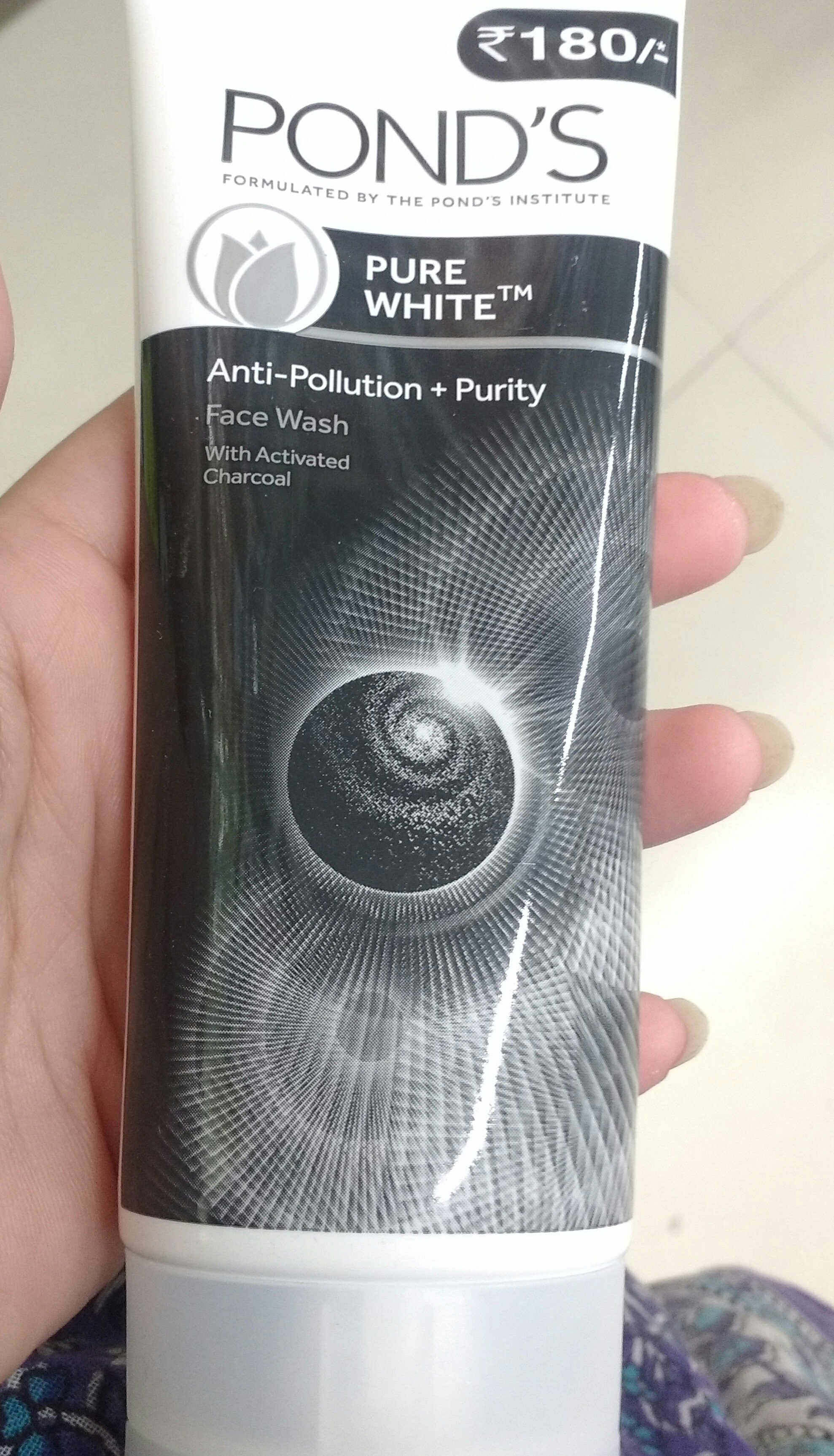 Ponds Pure White Anti Pollution + Purity Face Wash -Anti pollution face wash-By ashwini_bhagat
