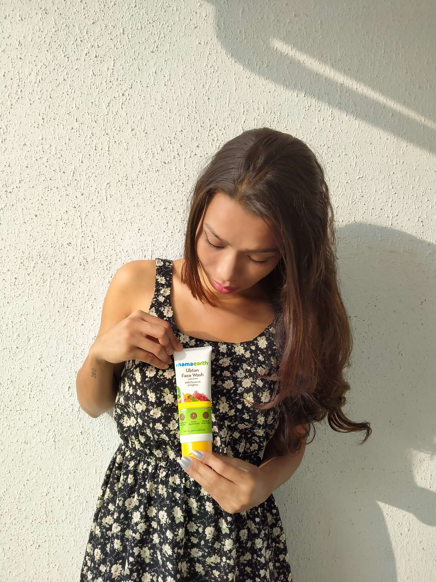 MamaEarth Ubtan Face Wash-One stop destination for tan removal.-By geetanjali_bharali-1