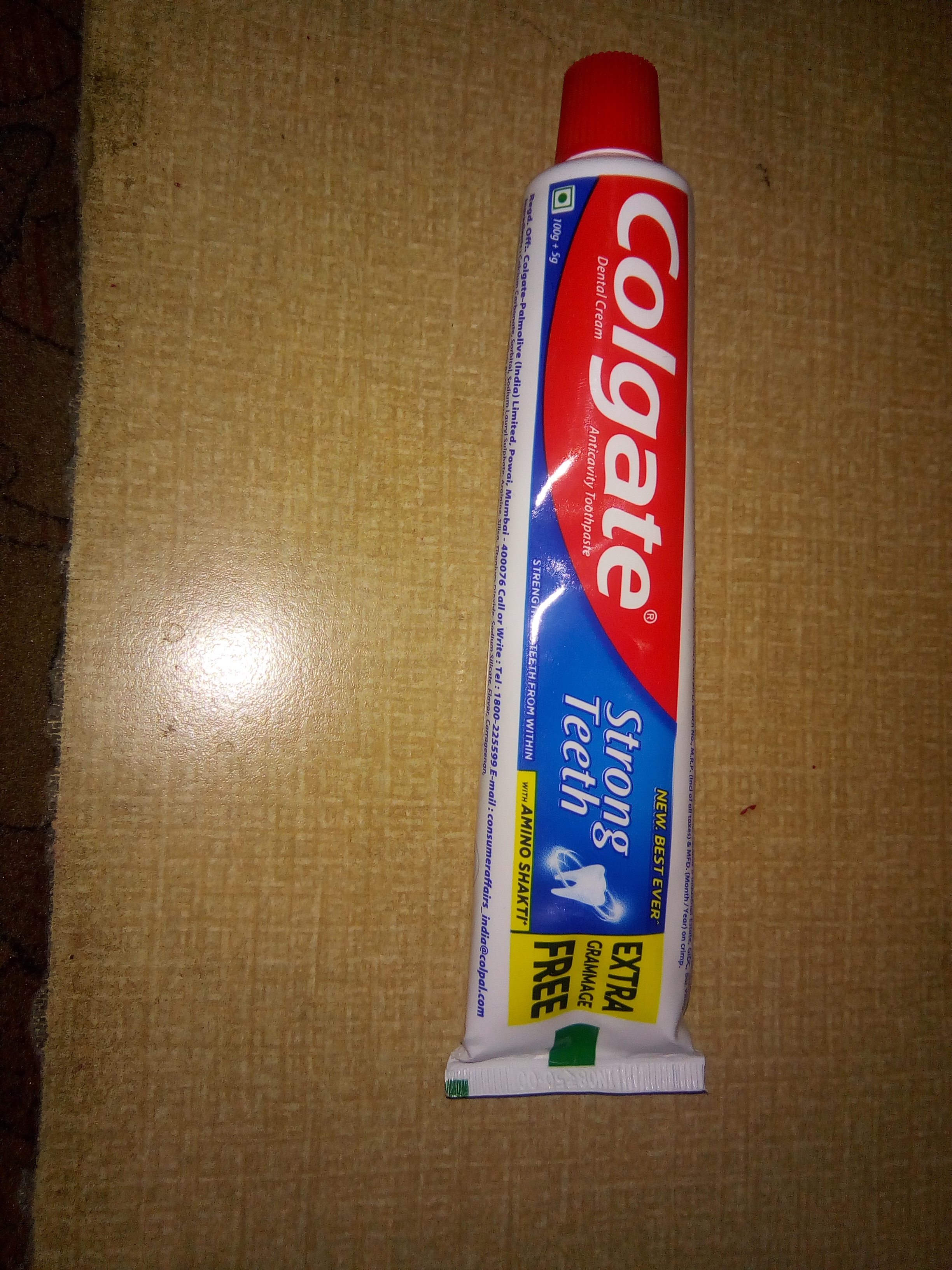 Colgate Strong Teeth Toothpaste-Colgate Dental Cream Anticavity Toothpaste For Strong Teeth-By aflyingsoul