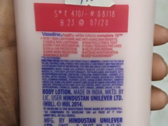 Vaseline Healthy White Complete 10 Body Lotion pic 2-Good one-By Nasreen