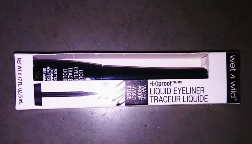 Wet N Wild H2O Proof Liquid Eyeliner -Wet N Wild H2O Proof Liquid Eyeliner-By aflyingsoul