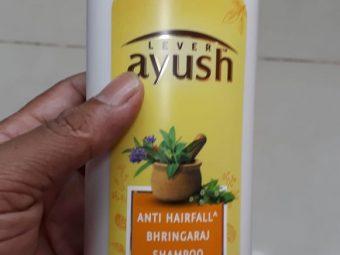 Lever Ayush Anti Hairfall Bhringaraj Shampoo pic 1-For soft and smooth hair-By manju_