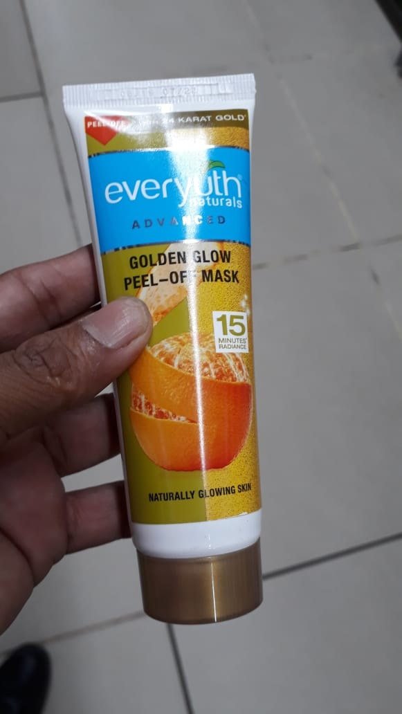 Everyuth Naturals Advanced Golden Glow Peel-off Mask-Smells sweet orange-By manju_-2