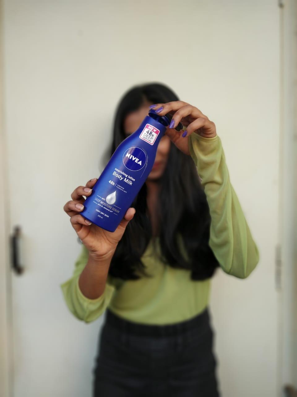 Nivea Nourishing Lotion Body Milk with Deep Moisture Serum-Nivea moisturising lotion-By nidhiprakash12