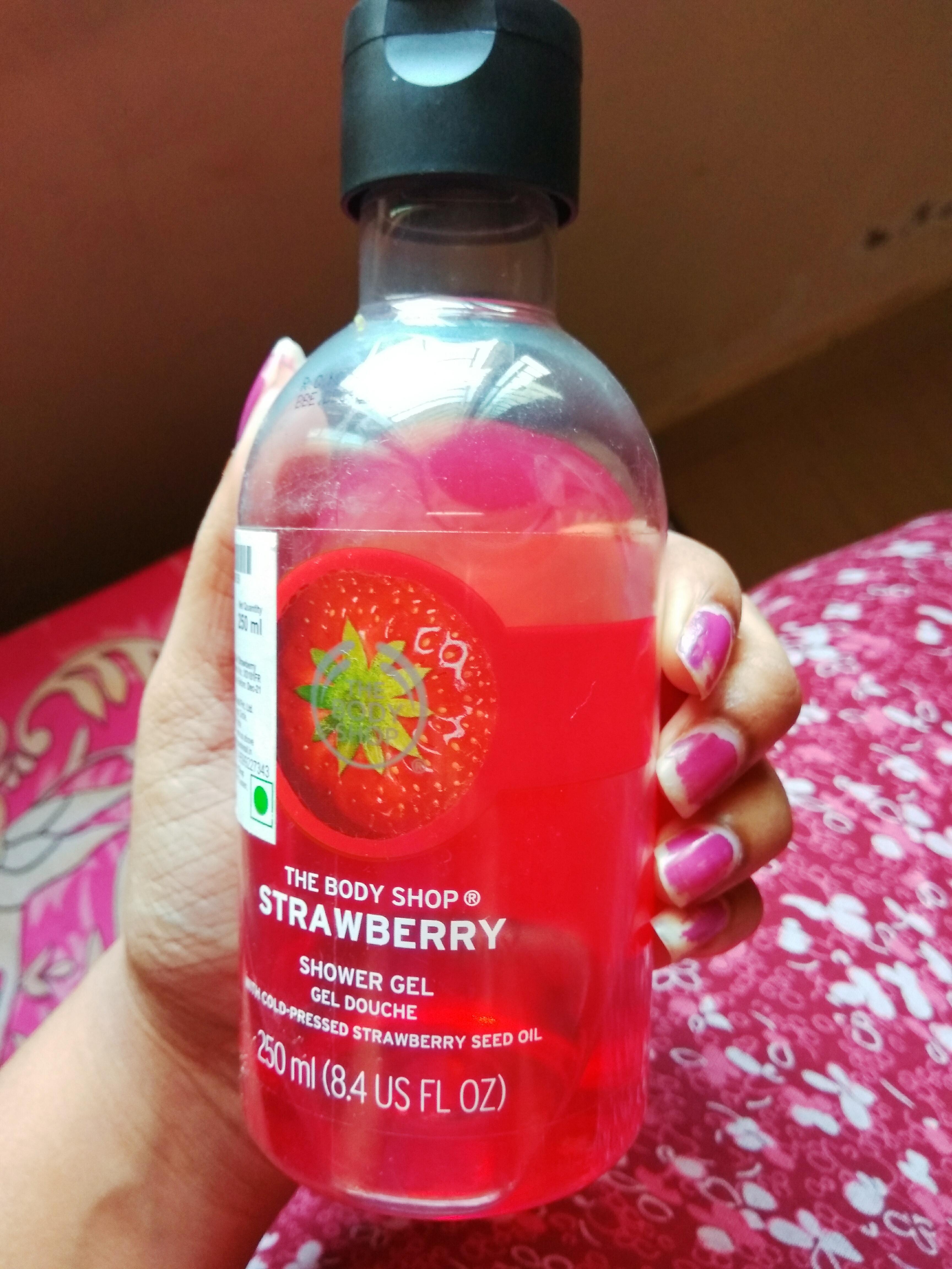 The Body Shop Strawberry Shower Gel -Amazing product-By karishma