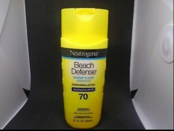 Neutrogena Beach Defense Sunscreen Lotion Broad Spectrum SPF 70 -Protect yourself to the fullest.Make sure you are safe and protected,Not just you but also your skin.Our skin needs to Tackle the harmful sunrays wch causes tanning,Skin disorders or even diseases sometimes.Wearing Neutrogena Beach Defencer 70 sheilds you and your skin even at the larger area as so beach!-By afrinmeeran