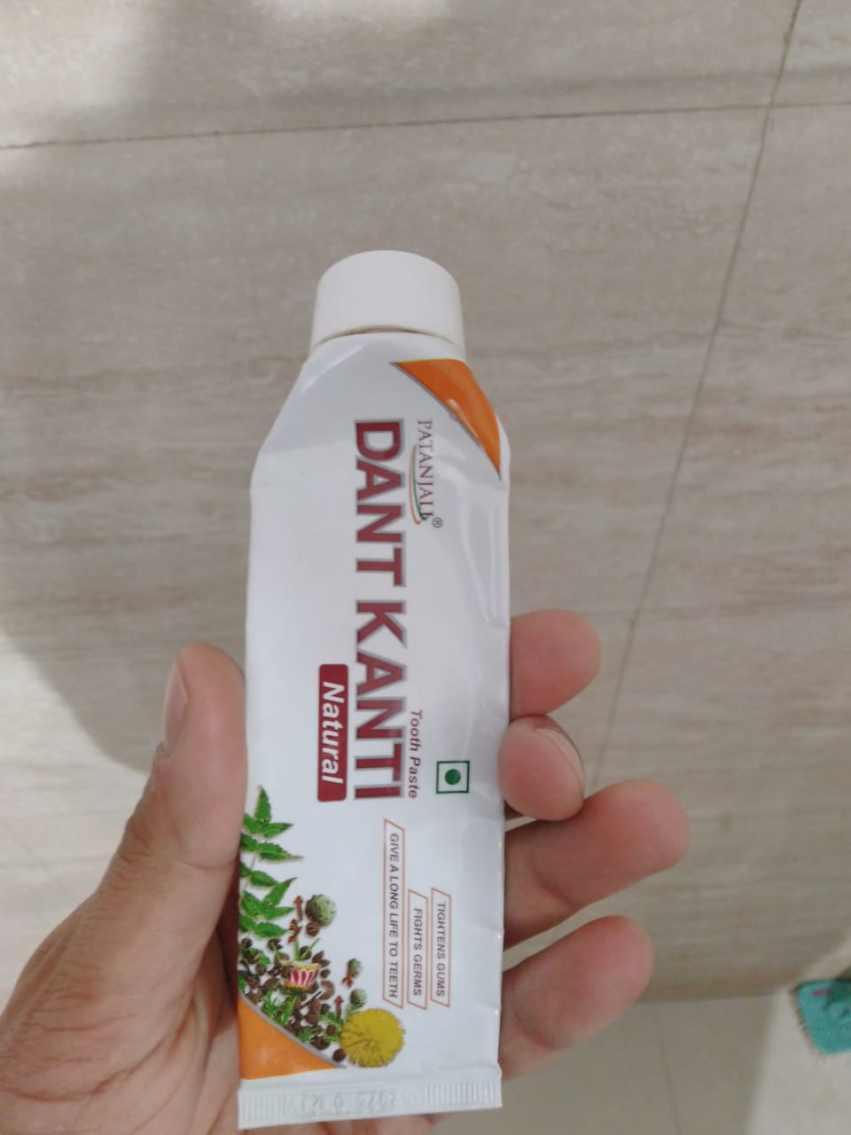 Patanjali Dant Kanti Dental Cream (Regular) 100gm -Patanjali Dant Kanti Dental Cream-By bhumikad