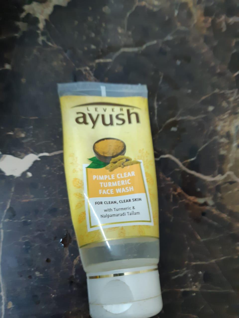 Lever Ayush Anti Pimple Turmeric Face Wash-Turmeric keeps pimples away!-By poonam_kakkar
