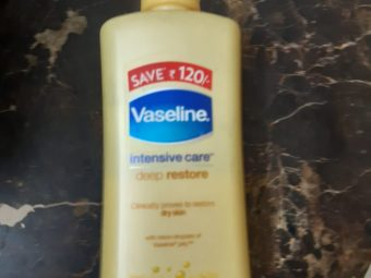 Vaseline Intensive Care Deep Restore Body Lotion -Goodness of oats and petroleum jelly!-By poonam_kakkar