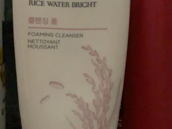 The Face Shop Rice Water Bright Cleansing Foam -Perfect foaming cleanser with Rice Extracts!-By poonam_kakkar