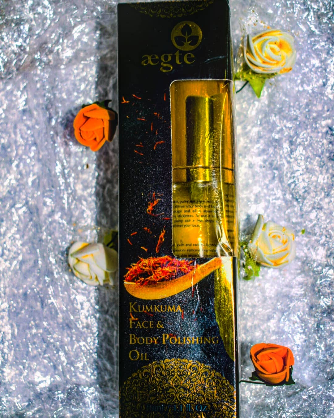 Aegte Ultra Luxurious Kumkuma Face and Body Polishing Oil – 30 ml / 1 fl. Oz -A must have for winter season.-By wanderlust1