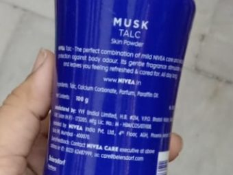 Nivea Musk Talc pic 1-Good one-By Nasreen