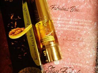 Aegte Ultra Luxurious Kumkuma Face and Body Polishing Oil – 30 ml / 1 fl. Oz pic 2-Provides nourishment to my skin-By radhika_bhatnagar